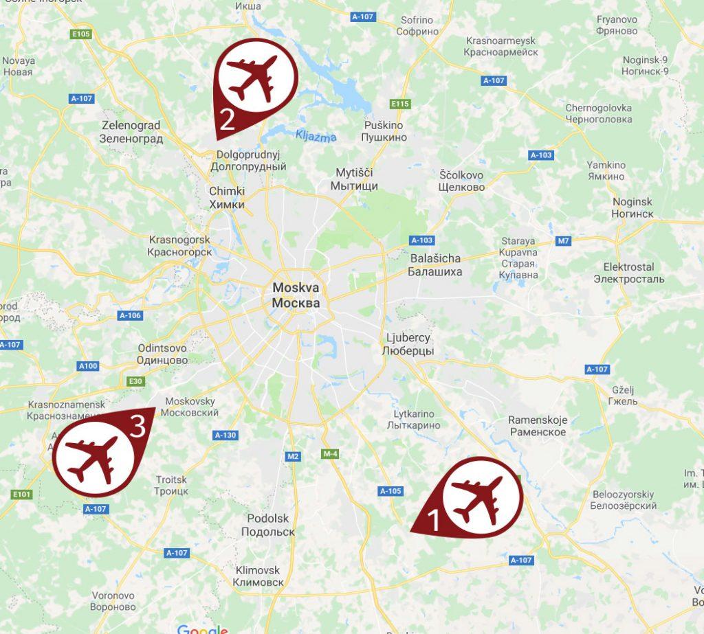 Letiště v Moskvě