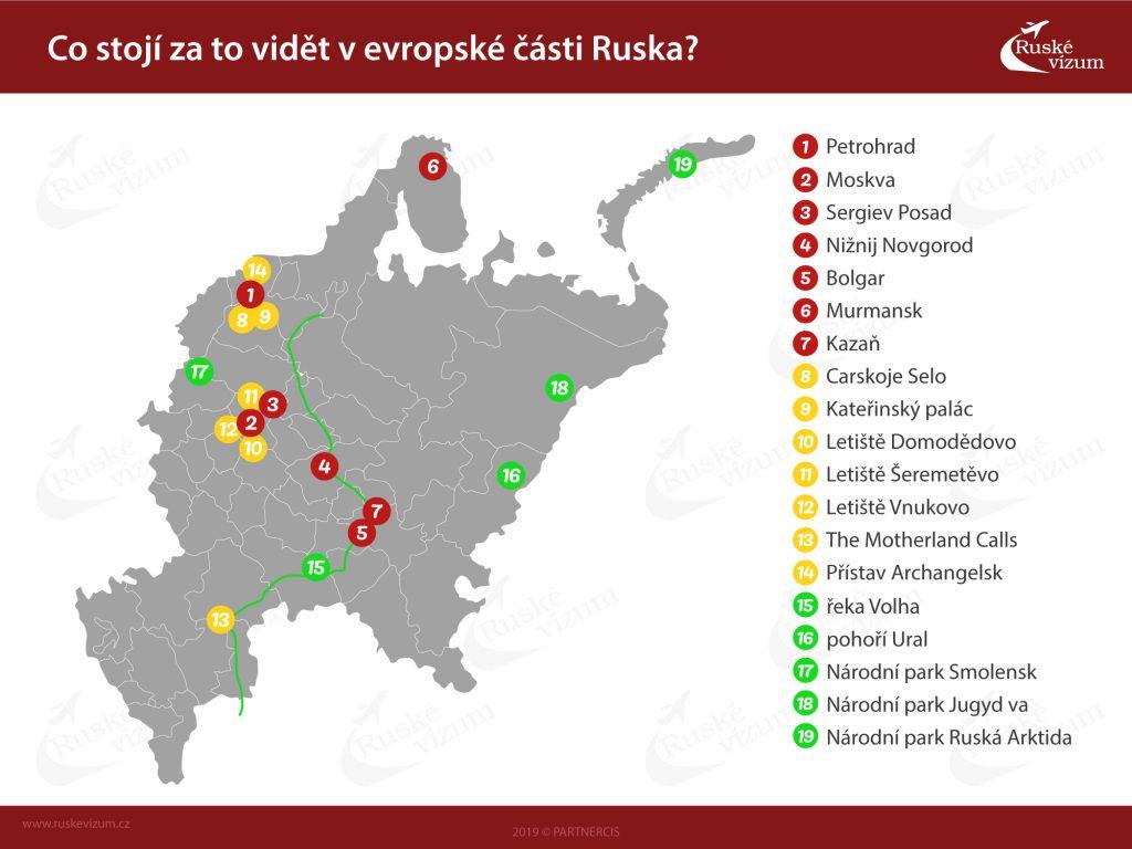 mapa Ruska