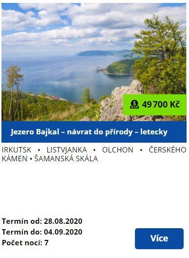 Zájezd jezero Bajkal