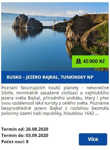 Zájezd k jezeru Bajkal